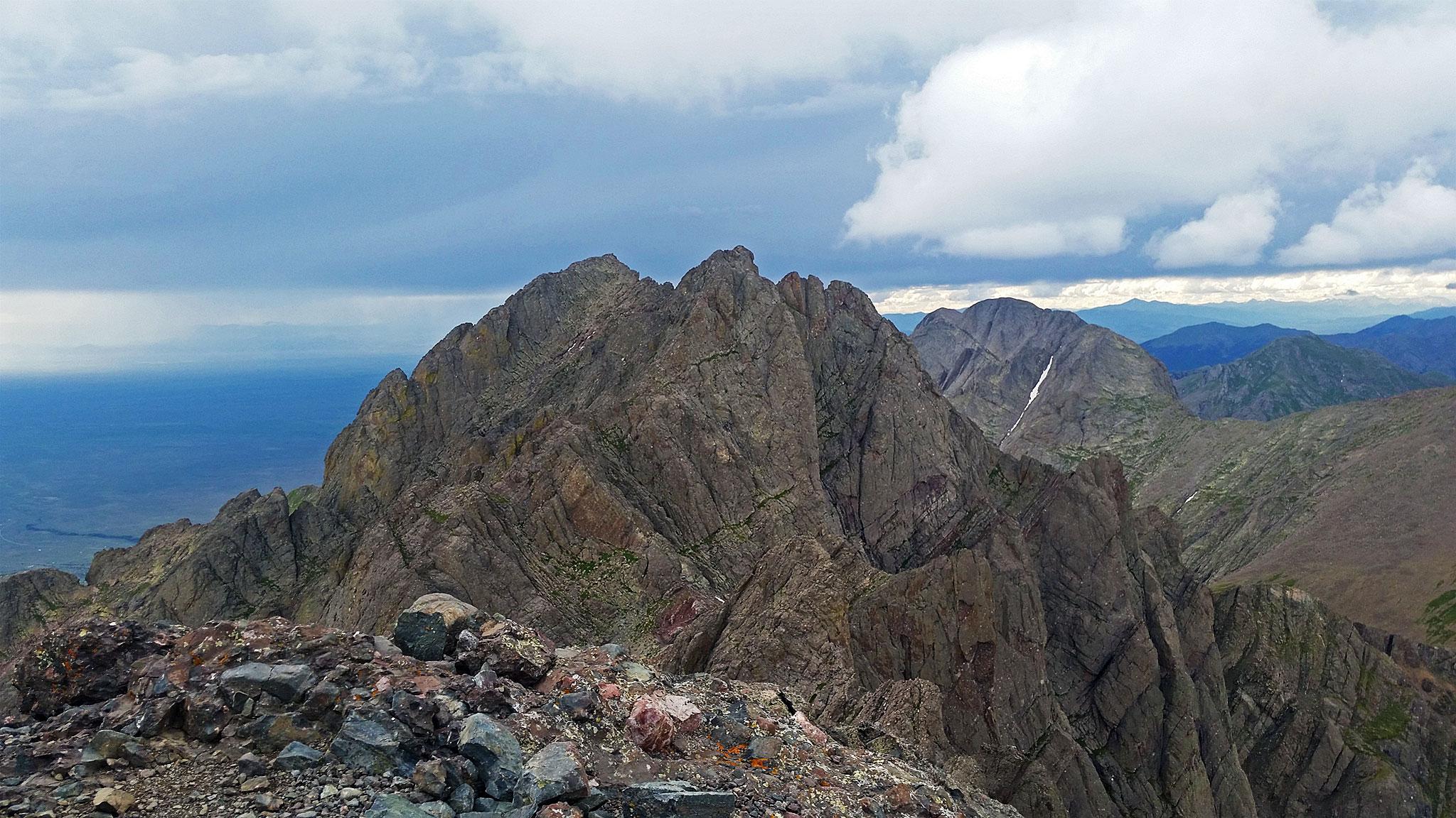 Crestone Peak from Crestone Needle