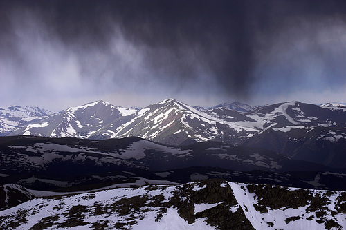 Angry Clouds over Mt Evans