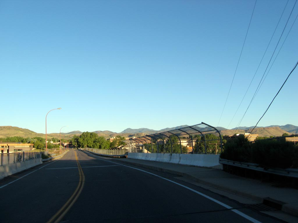 Crossing into Golden, CO