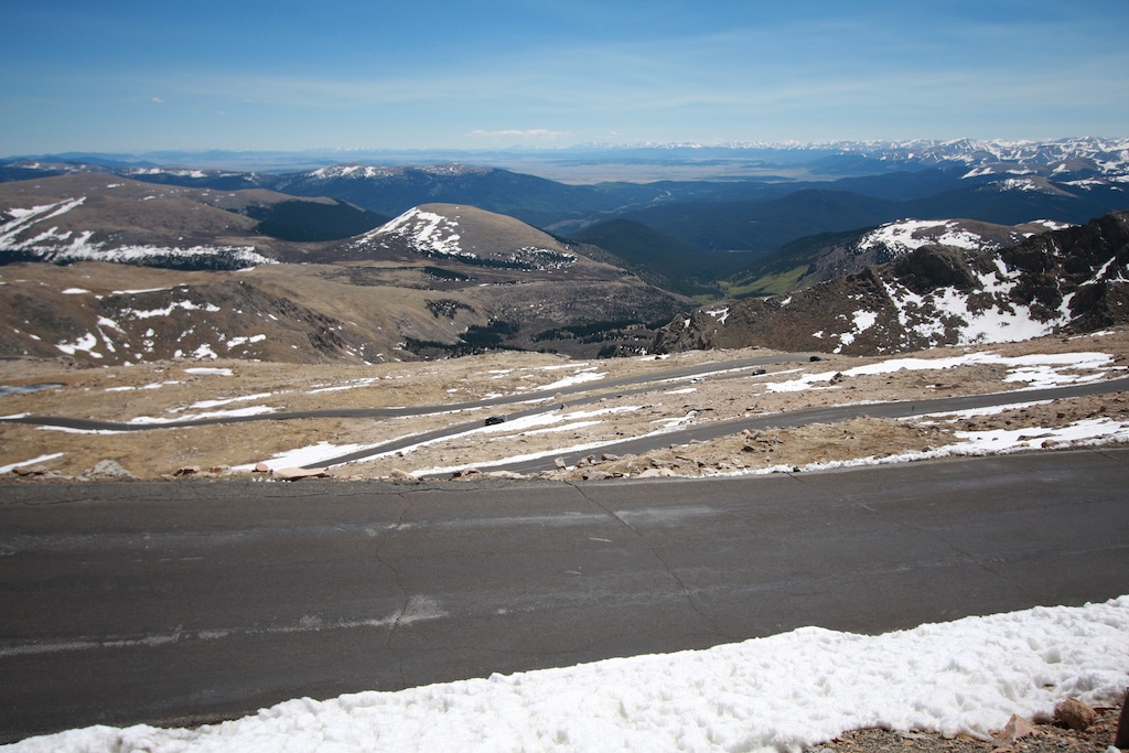 A good view of the switchbacks
