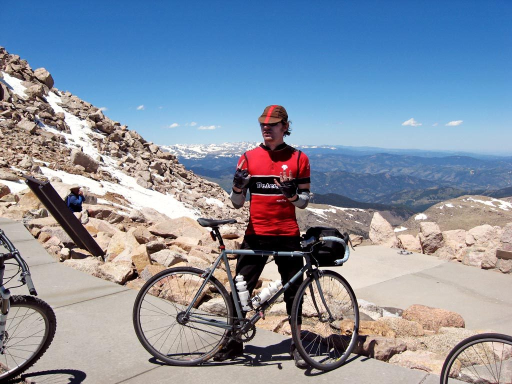 Riding fixed up the Mt. Evans Highway