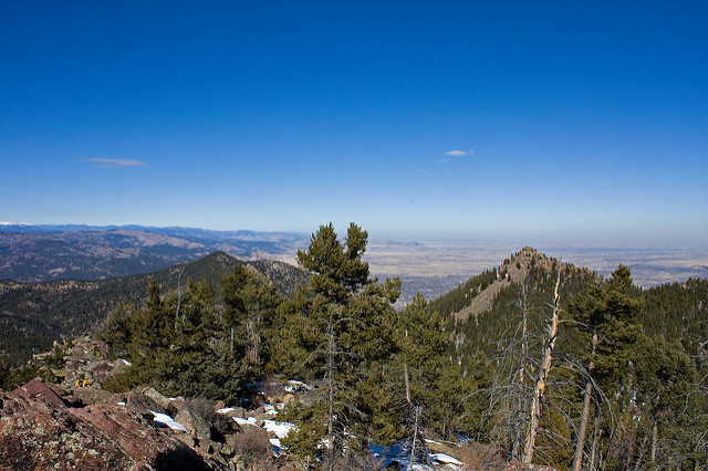 Beak Peak and Green Mountain from South Boulder Peak
