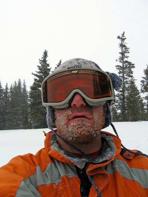 Ice Beard at treeline.