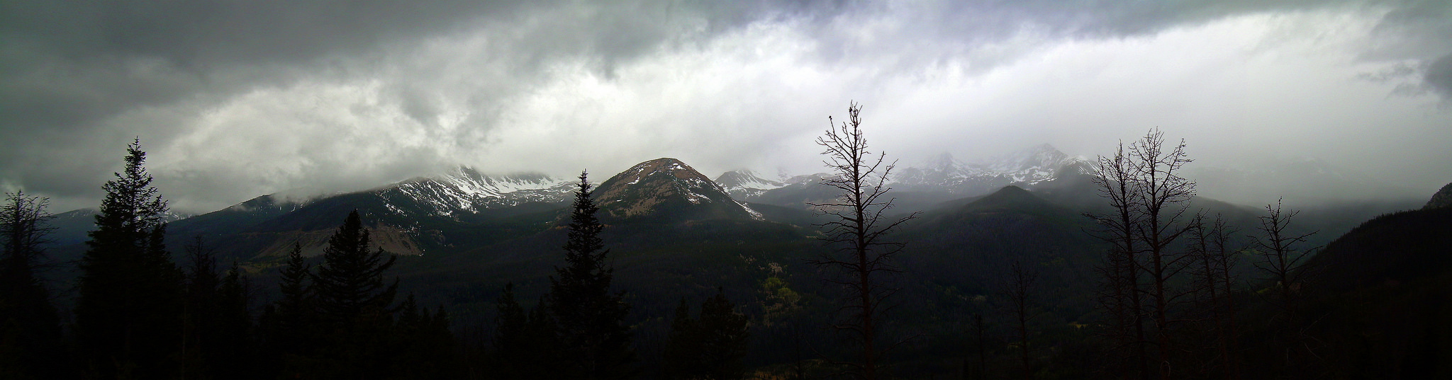 Storm gaining energy in RMNP