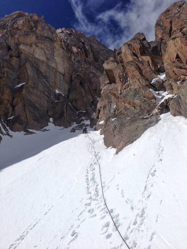 Starting up the Notch Couloir