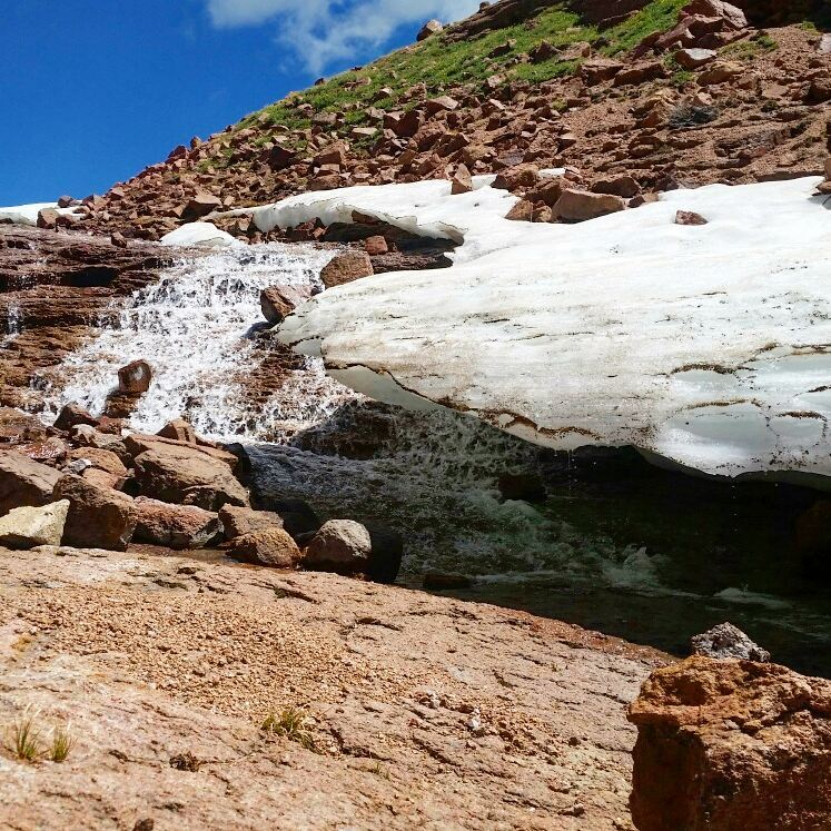 Waterfall found on the Horsethief Route up Pikes Peak