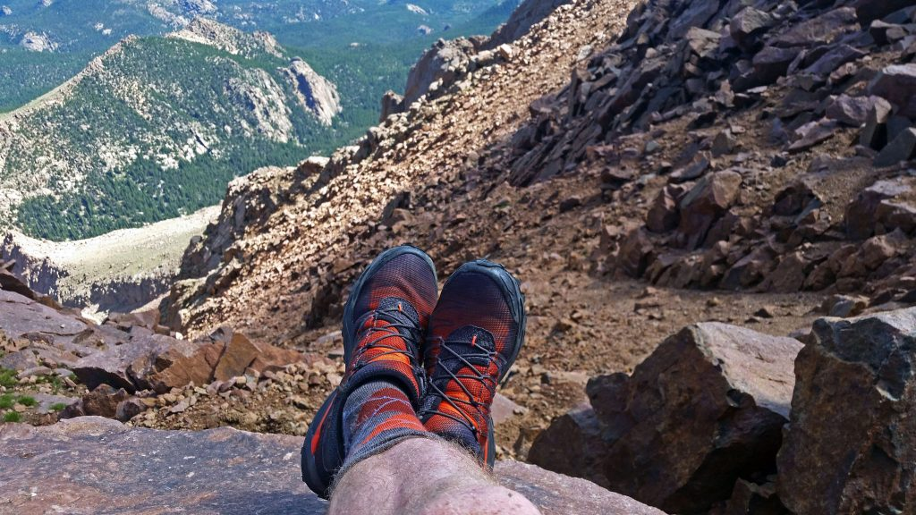 Relaxing on the summit of Pikes Peak