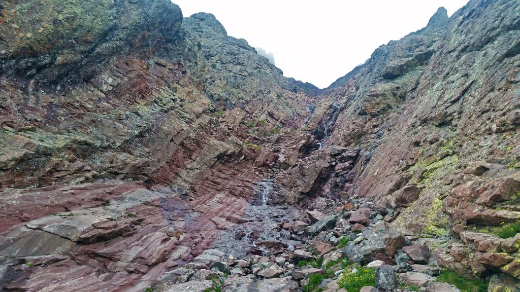 The Red Gully of Crestone Peak