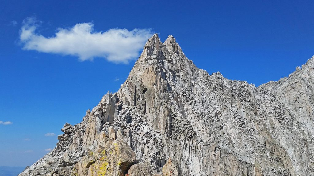 Crumbling spire besides where I crossed over the Capitol/Snowmass ridge.