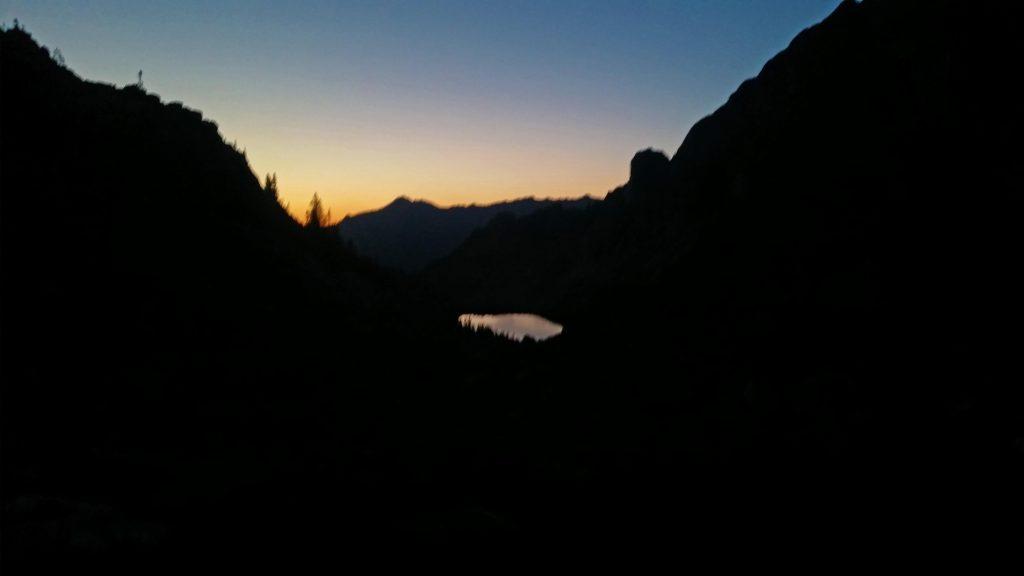 Leaving Moon Lake en route to Capitol Peak