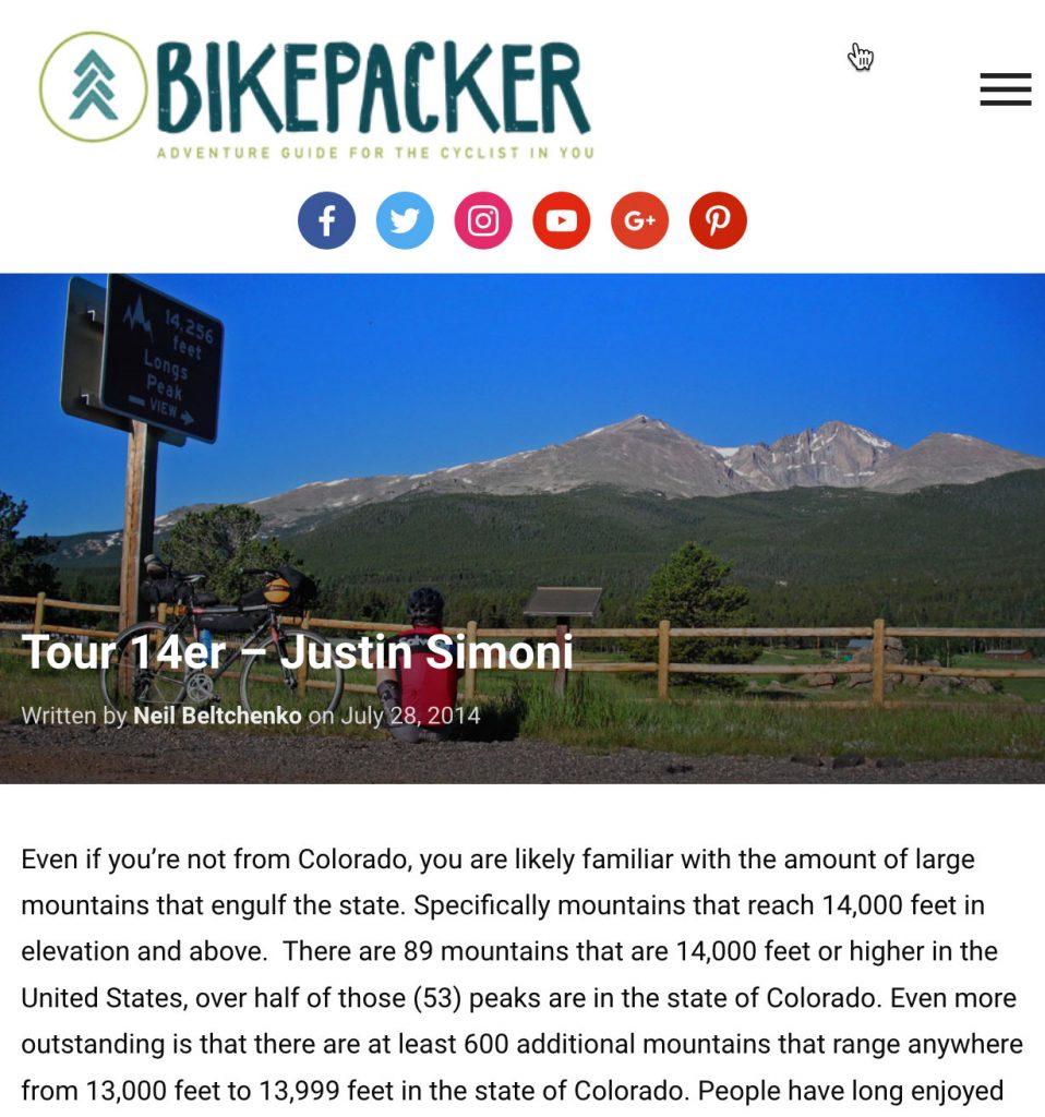 Tour 14er – Justin Simoni