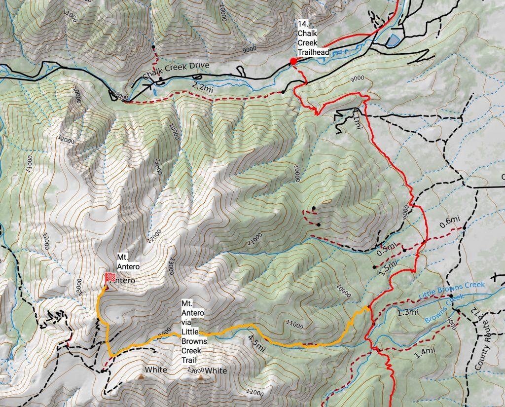 Mt. Antero route off the Colorado Trail