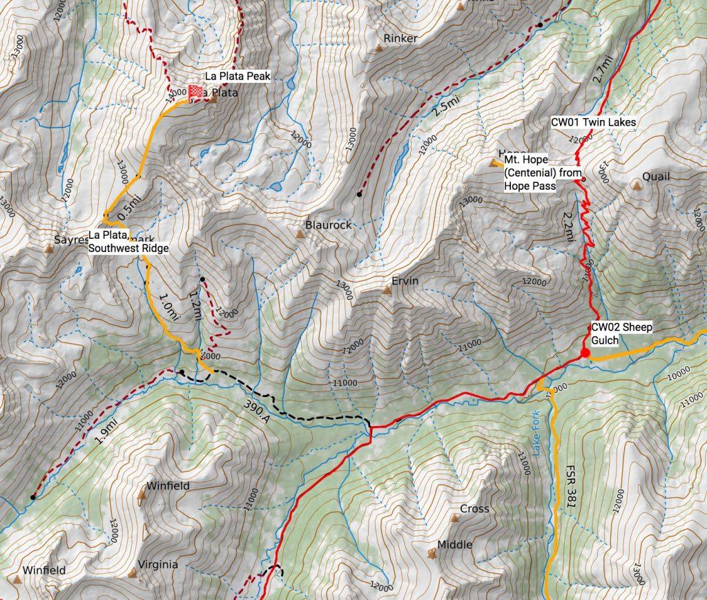 La Plata route off the Colorado Trail