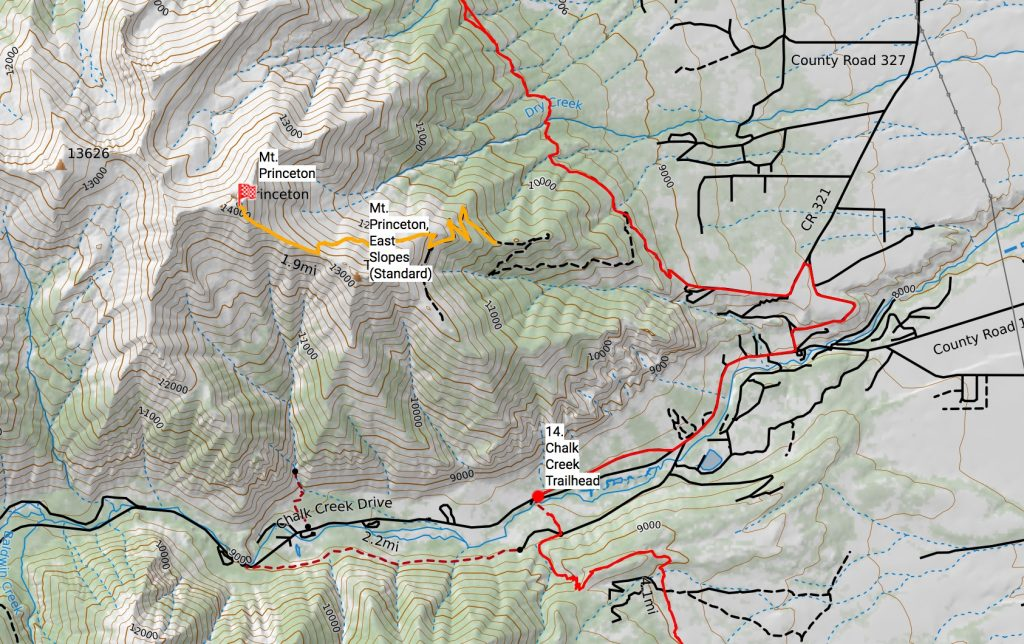 Mt. Princeton route off the Colorado Trail