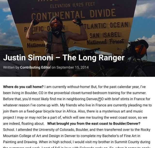 Justin Simoni – The Long Ranger