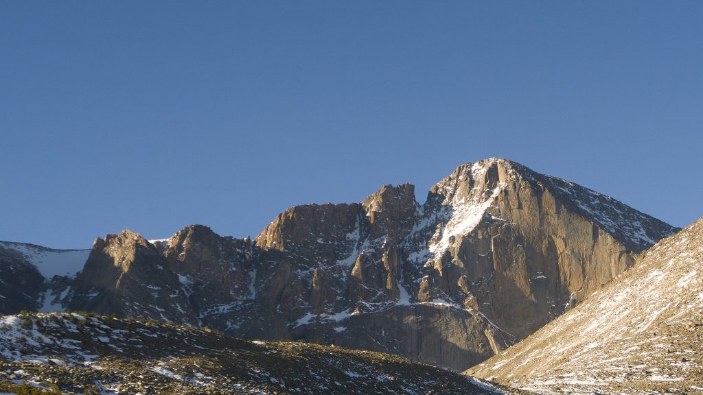 February Morning on Longs Peak