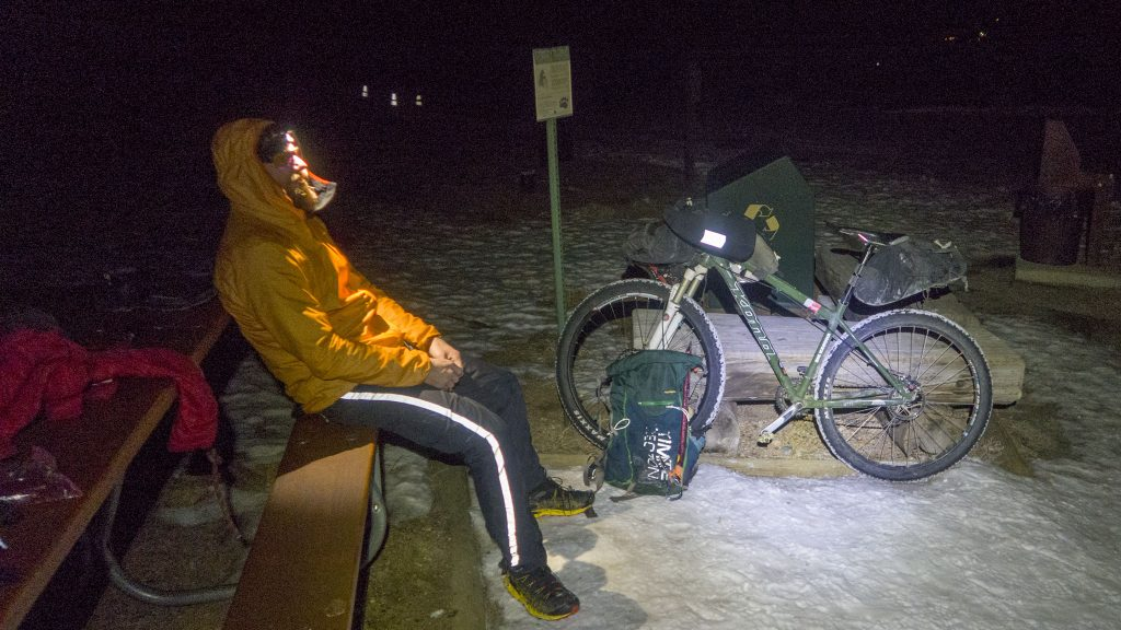Back at the Trailhead, mentally perparing for the ride home