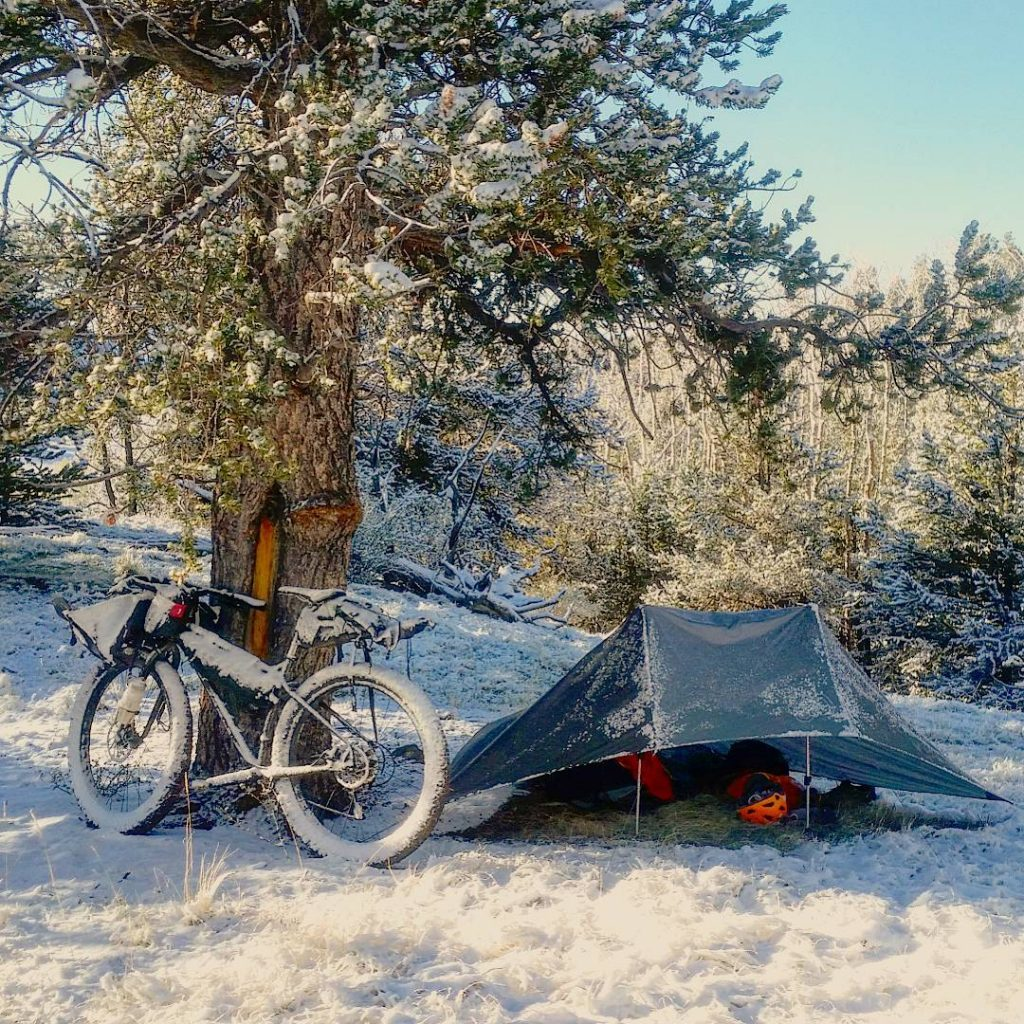 Spring Snow Bivy with the Ultimate Direction FK Tarp