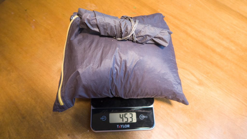 The FK Tarp, with six stakes (included) comes in at around 453 grams.