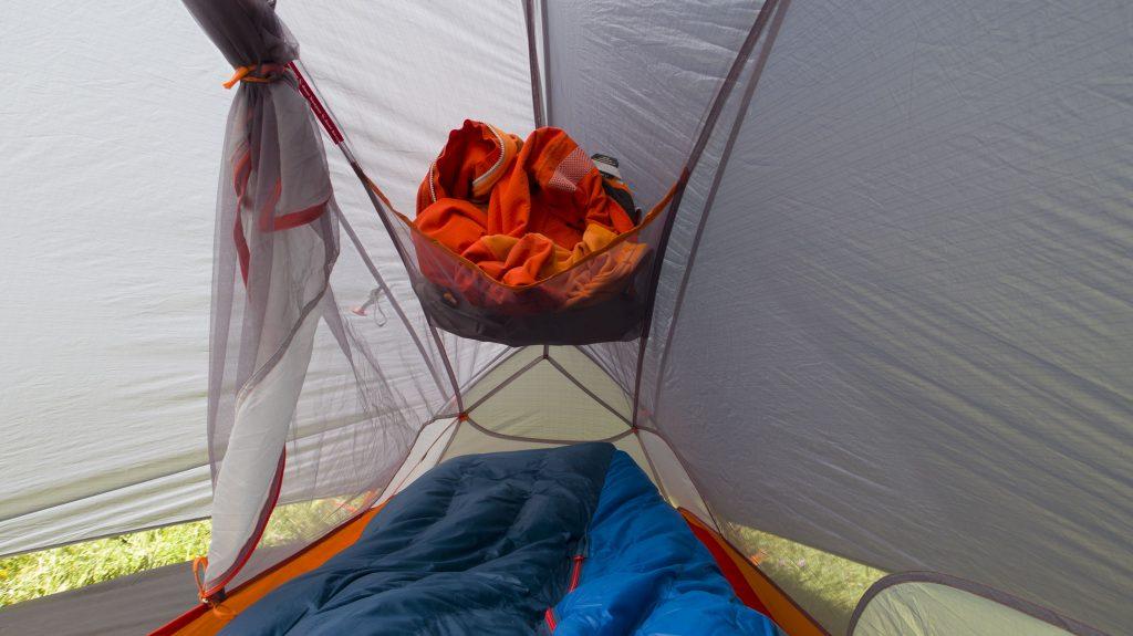 The Copper Spur HV UL1 Bikepack tent's 3D bin pocket