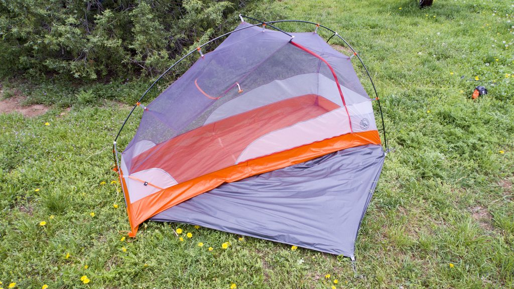 The Copper Spur HV UL1 Bikepack tent w/o tent fly (footprint, shown, but is not required)