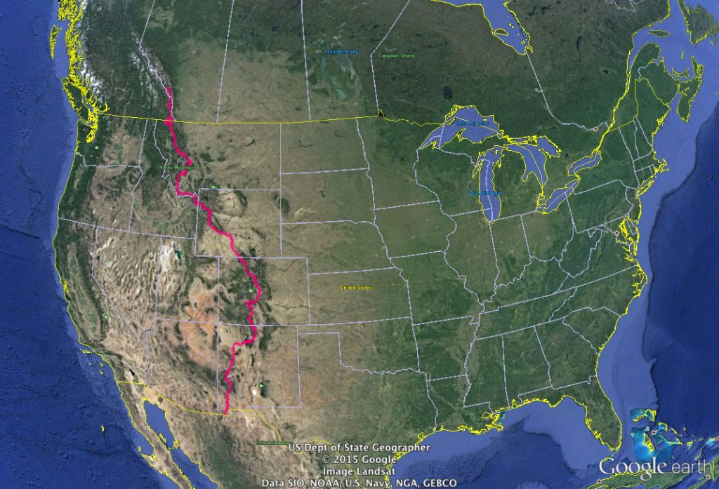 The Tour Divide Route
