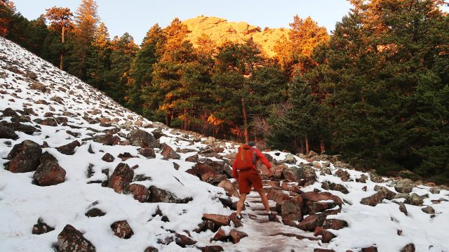 Approaching the First Flatiron in icy conditions