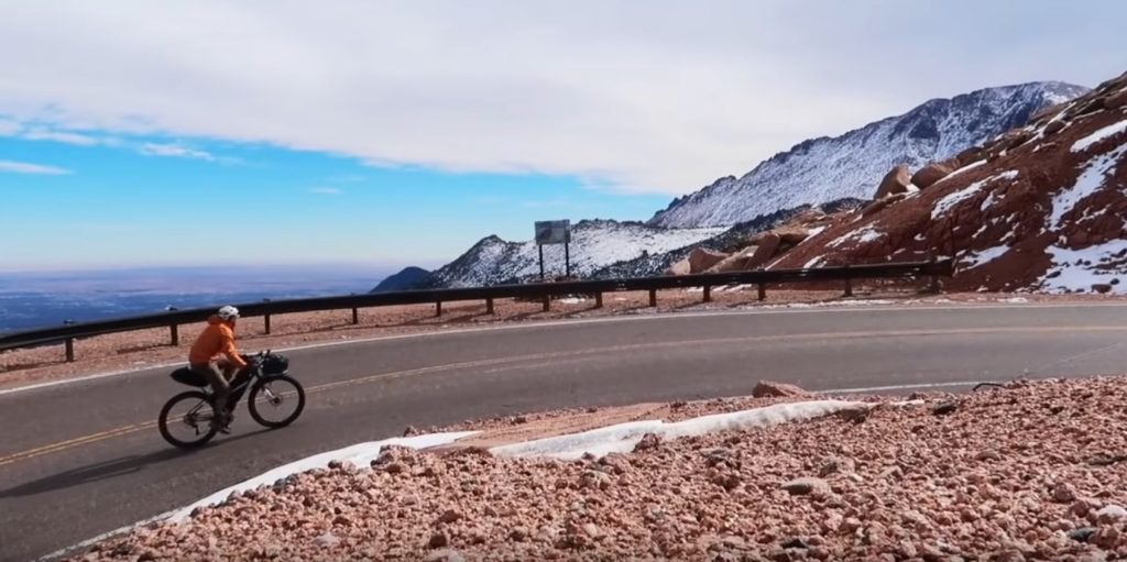 Riding the Pikes Peak Highway to the summit to then descend down Barr Trail