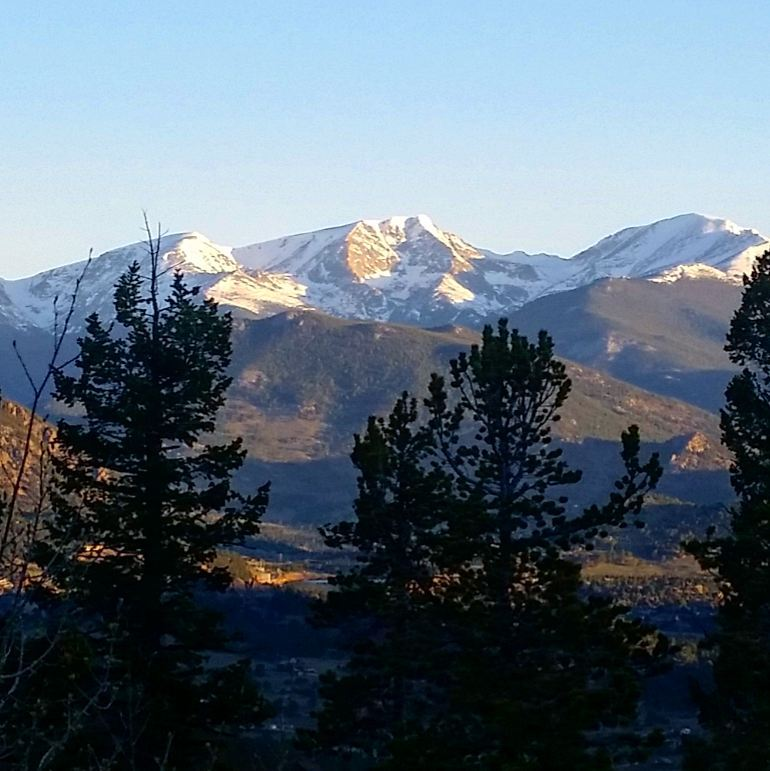 Views of Rocky Mountain National Park from Little Valley Road