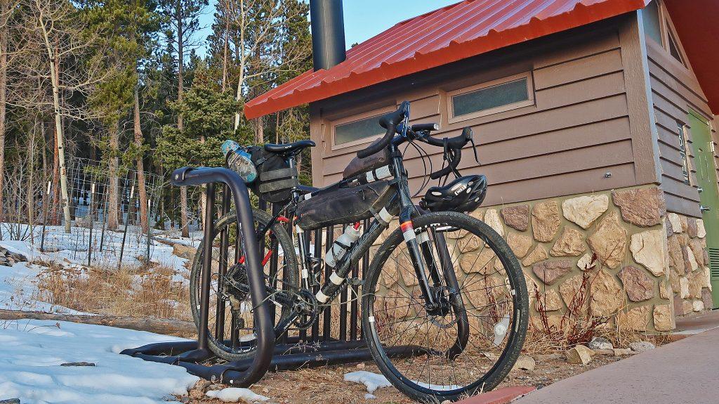 East Longs Peak TH features a bike lockup area