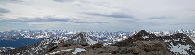 Pano looking West on Mt. Evans