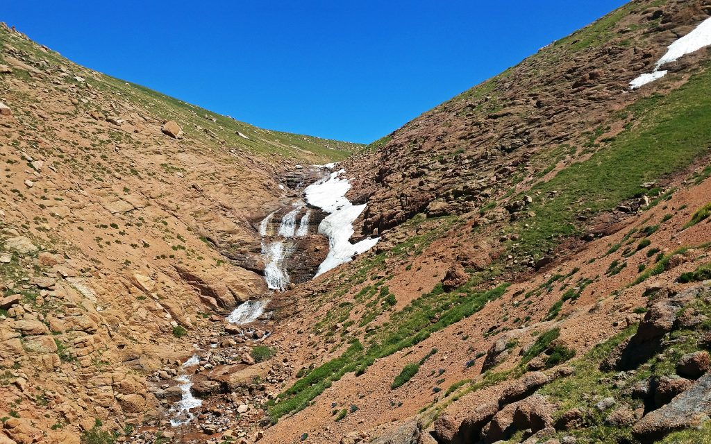 Waterfall en route to Pikes Peak Summit