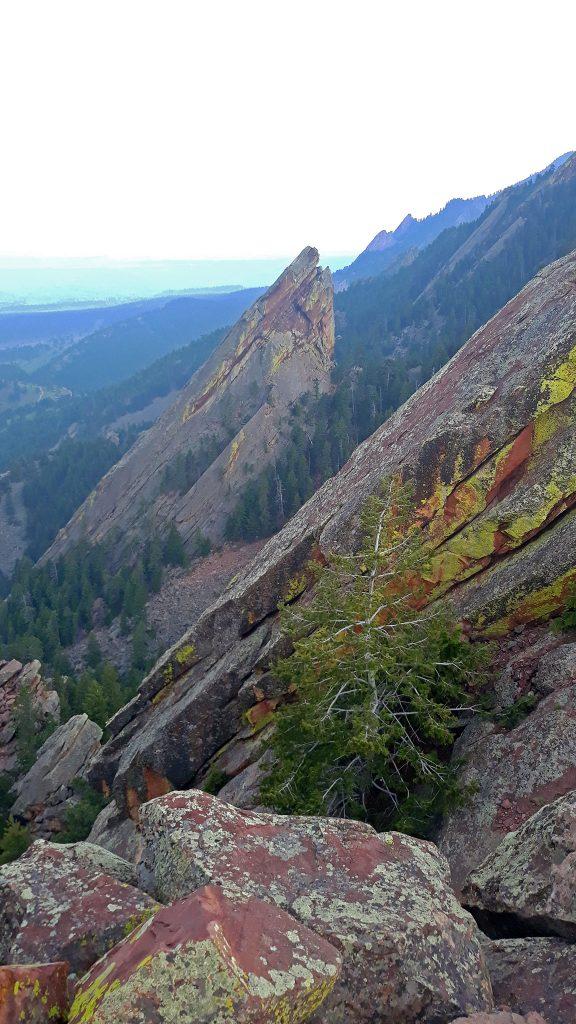 Hazy Views on the summit of the First Flatiron