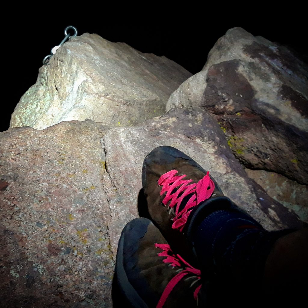 Night on the summit of the First Flatiron