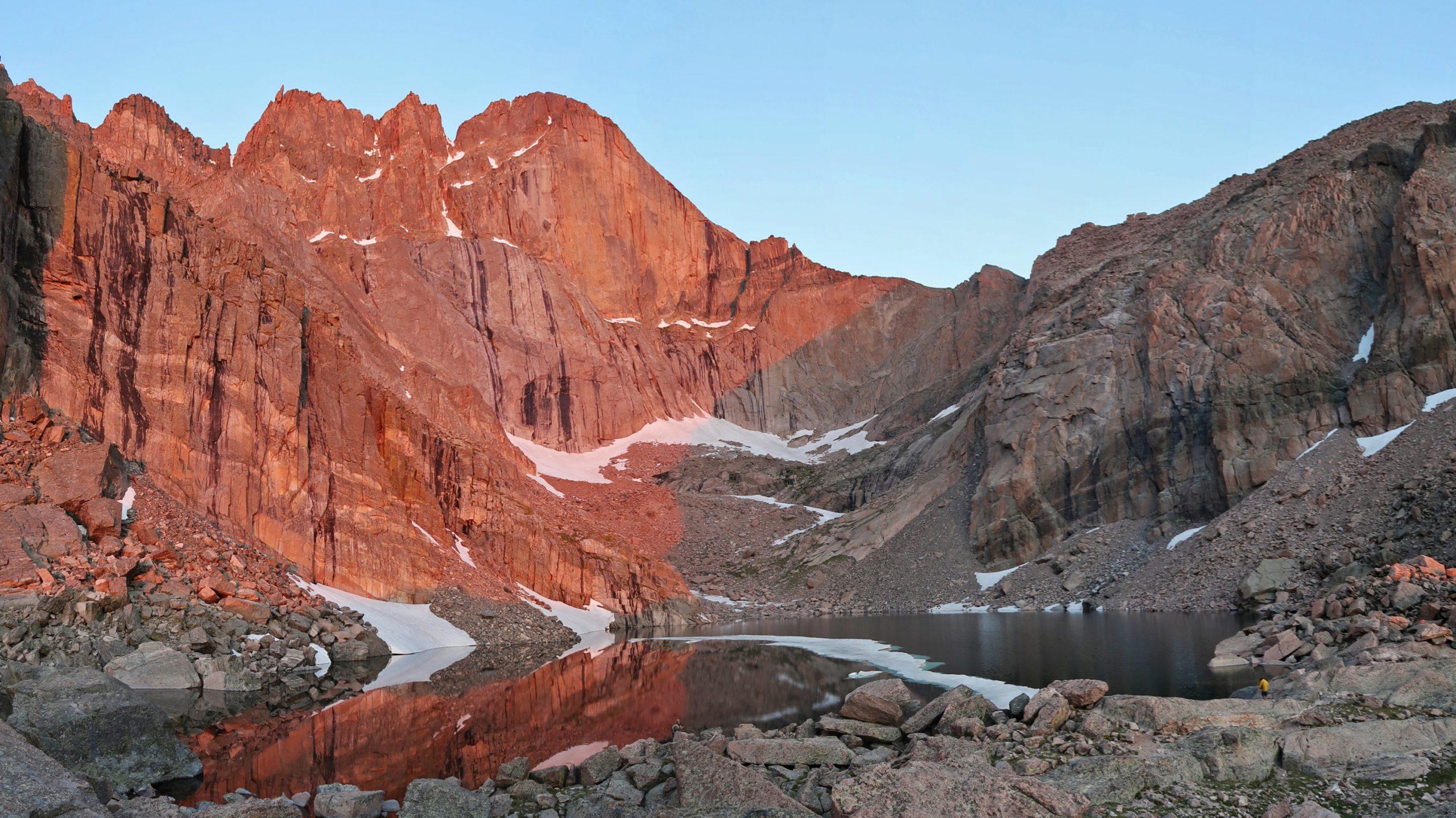 Chasm Lake at sunrise, Longs Peak