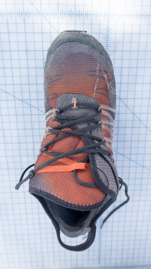 Sportiva Mutant finished lacing pattern