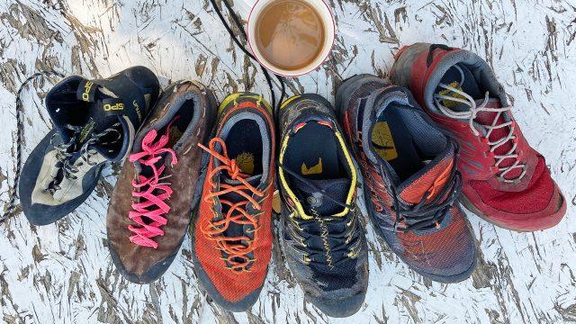 Scrambling Shoes Spread