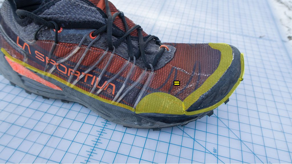 yellow highlighted areas to reinforced with Seam Grip
