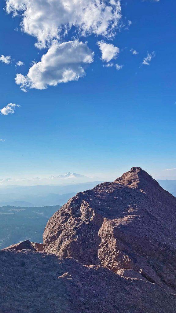 Longs Peak in the haze