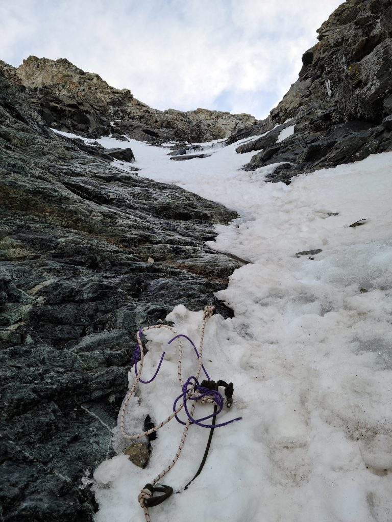 A tangled mess of useless cut ropes found at the bottom of the route, thawing out during a Spring Climb. Photo provided by Kevin P. Durkan (with permission)