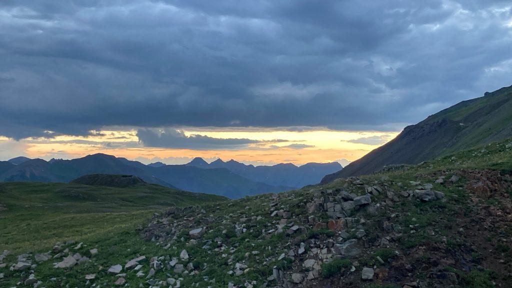 Sundown on the Hardrock 100 course near Engineer Pass