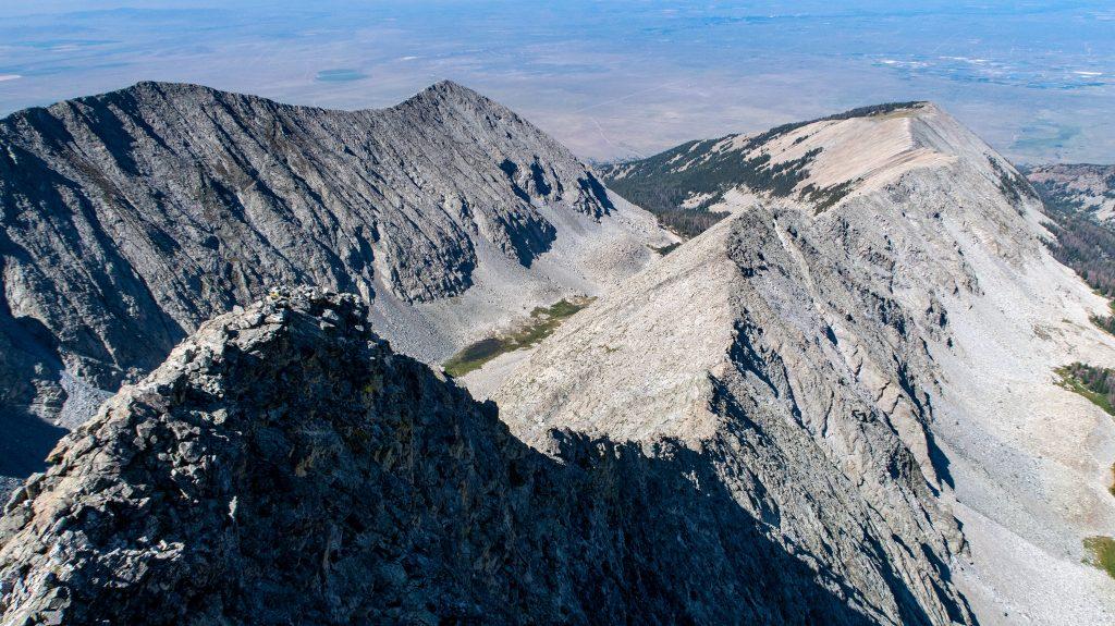 Little Bear West Ridge looking west
