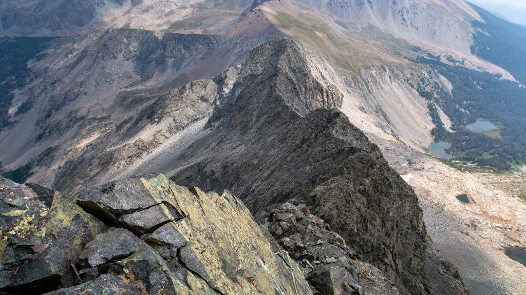 Looking down Gash Ridge