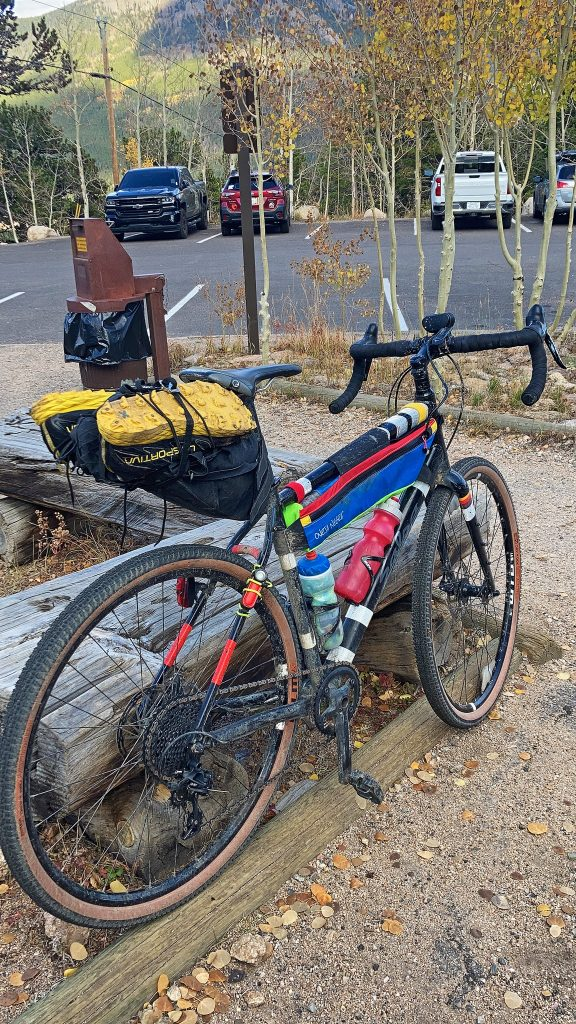 Ready to roll out from the East Longs Peak TH