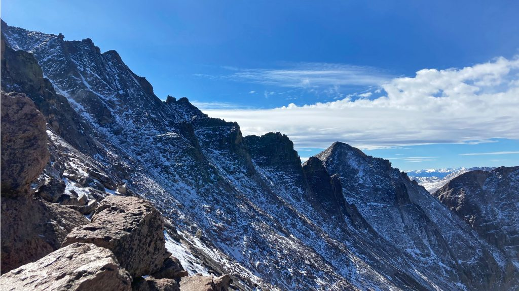 Freshly Fallen Snow on the backside of Longs Peak