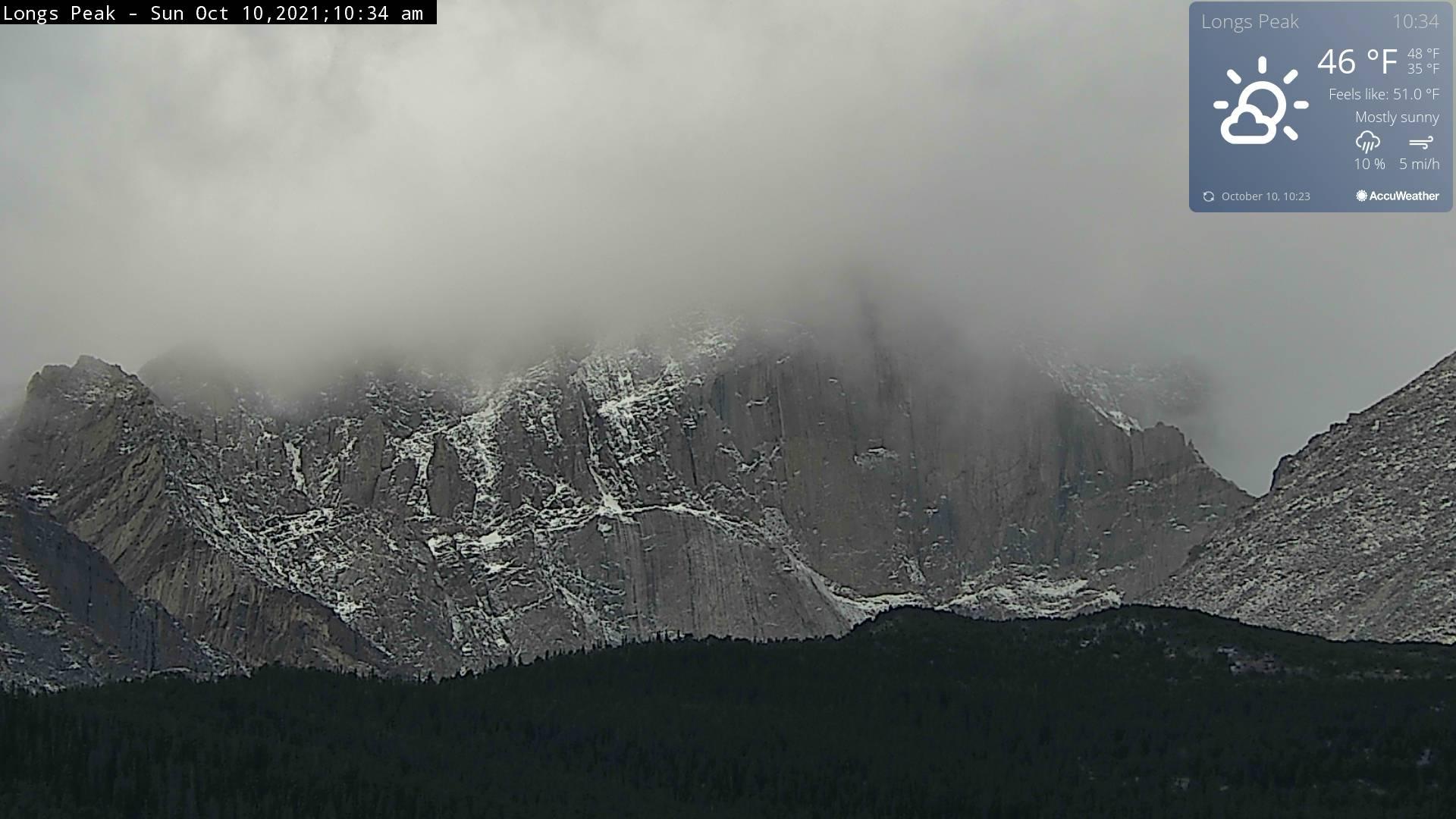 Longs Peak Webcam